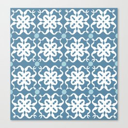 Flower Stamp Pattern Canvas Print