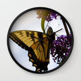 Butterfly and Sunlight Wall Clock