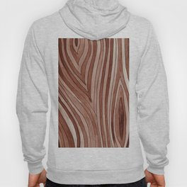 Brown Wood Grain Hoody