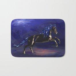 Black Stallion Bath Mat