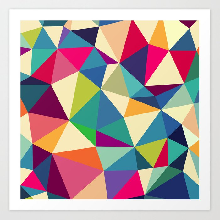 Abstract Geometric Backgrounds Art Print By Mrs Opossum