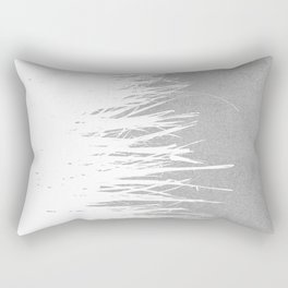Concrete Fringe White Side Rectangular Pillow