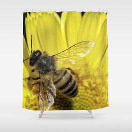 Working on the Flower Shower Curtain