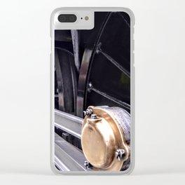 Locomotive drive wheel Clear iPhone Case