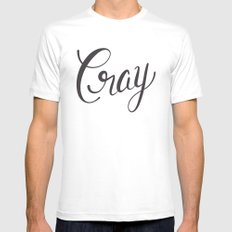 Cray MEDIUM Mens Fitted Tee White