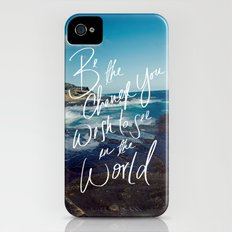 Be the Change Slim Case iPhone (4, 4s)