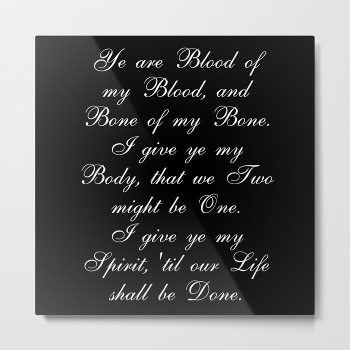 Outlander Wedding Vows Metal Print