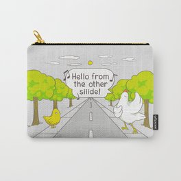 Why Did the Chicken Cross the Road? Carry-All Pouch
