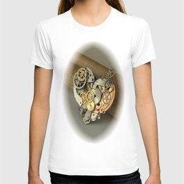 Steampunk Heart of Gold and Silver T-shirt