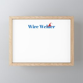 Top Wire Welder Framed Mini Art Print