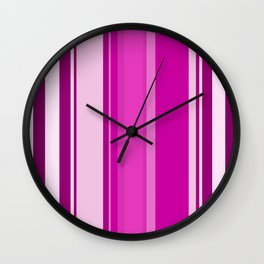 Stripes in colour 12 Wall Clock