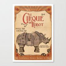 Robot Circus - Rhino Canvas Print