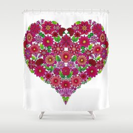 MauindiArts Endless Love Print Shower Curtain