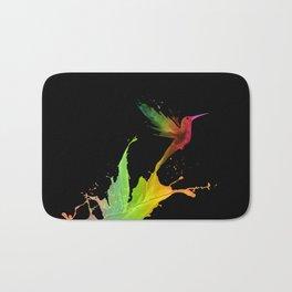 Colors Humming Bird (black bg) Bath Mat
