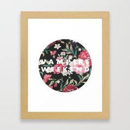 Vampire Weekend Floral logo Framed Art Print