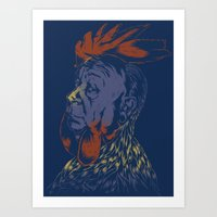 cock Art Prints featuring Hitch-Cock! by Joshua Kemble
