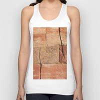 geology Tank Tops featuring Ancient Sandstone Wall by Phil Smyth