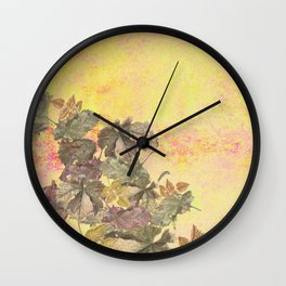 ...among the leaves,  the dew  of old devotions. ' Wall Clock