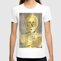 c3po T-shirts featuring C3PO by Johannes Vick