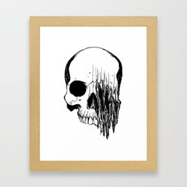 Skull #5 (Distortion) Framed Art Print