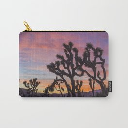 Colorful Sunset in Joshua Tree National Park Carry-All Pouch