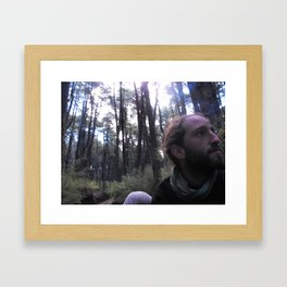 In The Back of a Truck, In The Depths of the Wood Framed Art Print