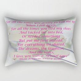Mothers Day Dogwood Rectangular Pillow