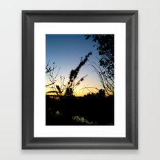 Sunset Contrast Framed Art Print