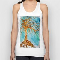 tree of life Tank Tops featuring Tree of Life by Aries Art