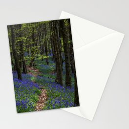 Bluebell trail at Margam woods Stationery Cards