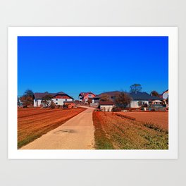 Peaceful countryside village scenery | landscape photography Art Print