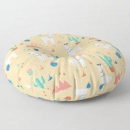 Summer Llamas Floor Pillow