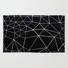 Segment Zoom Black and White Rug