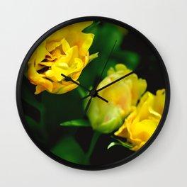 Yellow Flower 1 Wall Clock