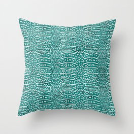 Whale Shark Skin (Teal Color) Throw Pillow