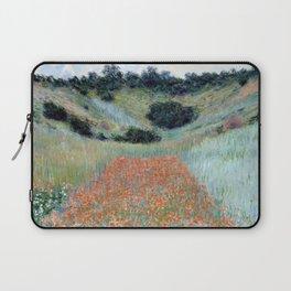 Claude Monet Poppy Field in a Hollow near Giverny Laptop Sleeve
