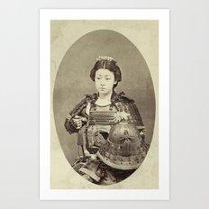 FEMALE SAMURAI WARRIOR Art Print