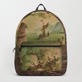 Ulysses Farewell to Penelope Seaport Landscape by Rex Whistler Backpack