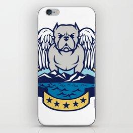 American Bully Dog Angel Wings Island iPhone Skin