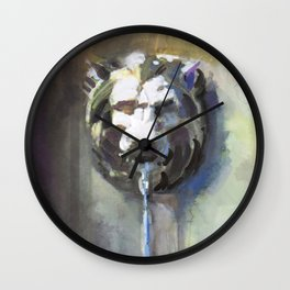 Lionhead Fountain Wall Clock