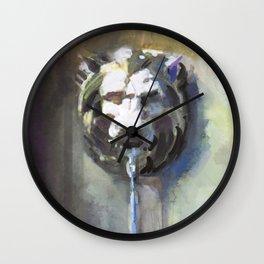 Lionhead Fountain Wall Clock