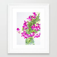 singapore Framed Art Prints featuring Singapore Orchids by marlene holdsworth
