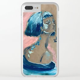 Blue Swirl Clear iPhone Case