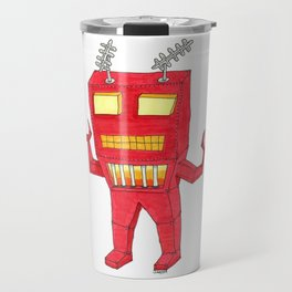 Red Pincher Robot Travel Mug