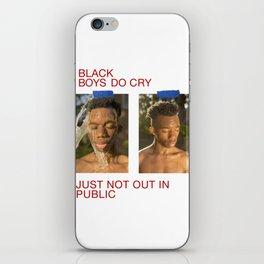 black boys do cry iPhone Skin