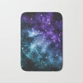 Purple Teal Galaxy Nebula Dream #1 #decor #art #society6 Bath Mat