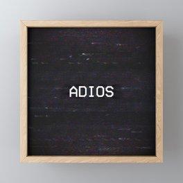 ADIOS Framed Mini Art Print