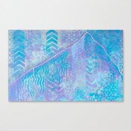 Patterns of Lone Peak Canvas Print