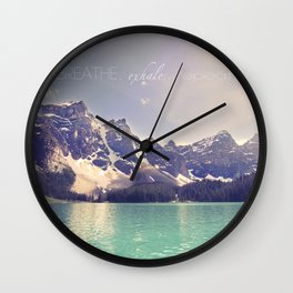 Breathe, Exhale, Repeat Wall Clock