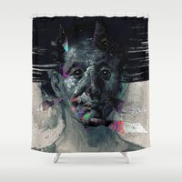 horror Shower Curtains featuring HORROR VACUI by xxss